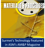 Surmet's Technology Featured in ASM's Advanced Materials and Processes magazine